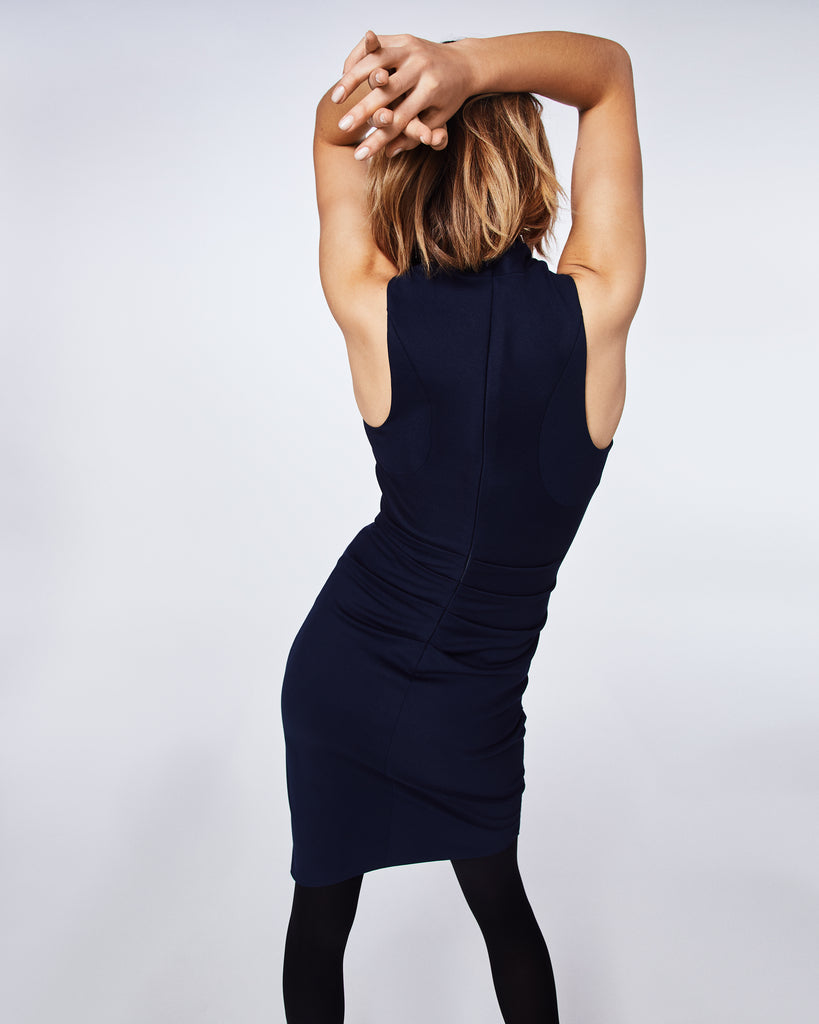 BH10424 - PONTE DRESS - dresses - short - Featuring a v-neck and faux wrap, this LBD is a wardrobe staple. This style is figure-flattering. Alternate View