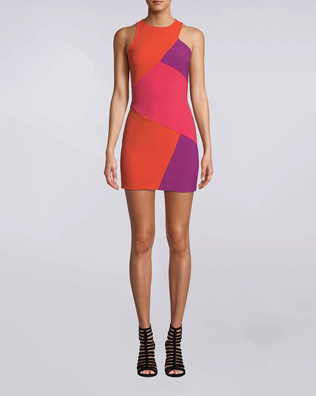 ac688a54b0be BH10464 - Color Block Sleeveless Mini Dress - dresses - short - We color  block the ...