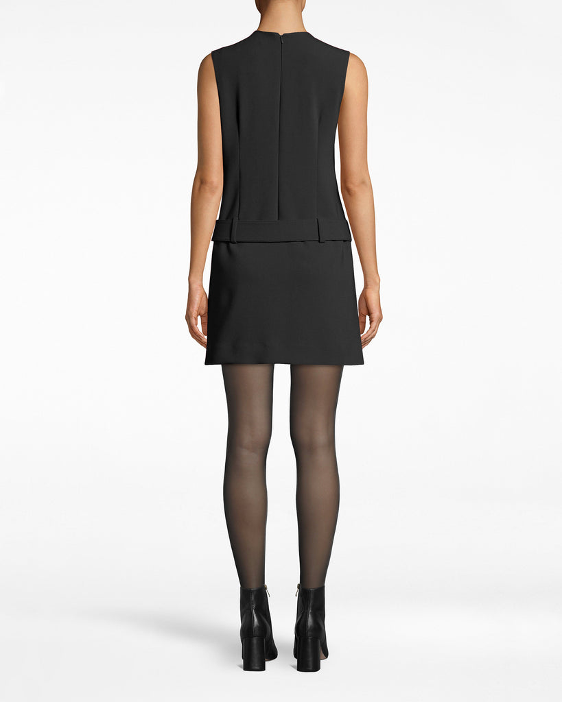 BP10266 - STRETCHY TECH BELTED MINI DRESS - dresses - short - 60s mood. A throwback style, this sleeveless mini dress has a chic fit to the body. The subtle slit brings eyes to the legs. Exposed back zipper for closure. Alternate View