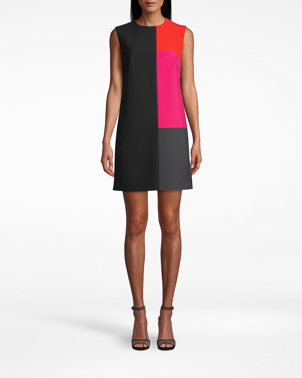 BP10271 - STRETCHY TECH COLOR BLOCK DRESS - dresses - short - THE ULTIMATE DESK TO DRINKS DRESS. THIS SHIFT SILHOUETTE IS CRAFTED FROM STETCHY TECH AND FEATURES BRIGHT POPS OF COLOR. HEMLINE HITS JUST ABOVE THE KNEE WITH A CONCEALED BACK ZIPPER FOR CLOSURE.
