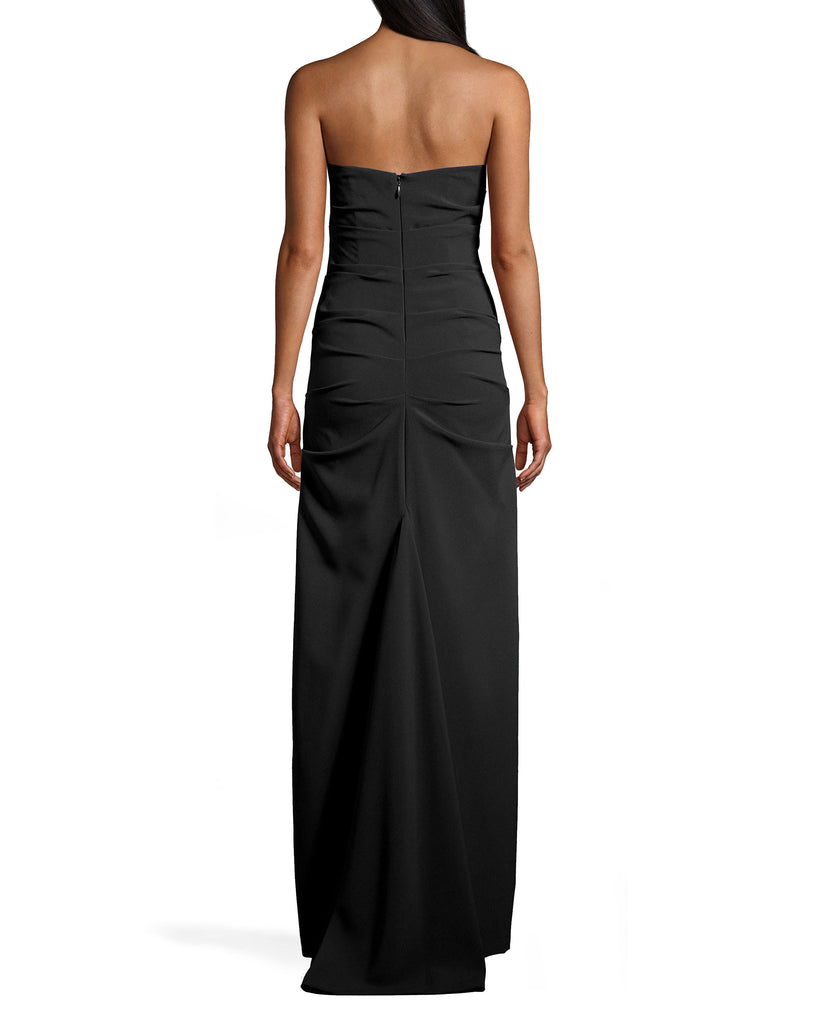 BP10277 - NEW STRETCH CREPE TUCK STRAPLESS GOWN - dresses - long - THIS CHIC STRAPLESS GOWN HAS FLATTERING RUCHING THROUGHOUT THE BODY AND HITS JUST BELOW THE ANKLE. THIS TIMELESS PIECE IS DESIGNED IN TWO VIBRANT COLORS AND CLASSIC BLACK. Add 1 line break STYLIST TIP: PAIR WITH STANDOUT ACCESSORIES LIKE STATEMENT EARRINGS OR A SPARKLY CLUTCH. Alternate View