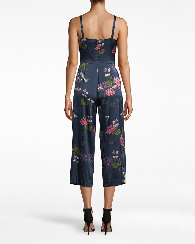 BP20151 - Lily Pad Jumpsuit - bottoms - pants - LIGHTWEIGHT AND AIRY, THIS JUMPSUIT IS PERFECT FOR DAY TO NIGHT. PAIR WITH WHITE SNEAKERS DURING THE DAY AND YOUR FAVORITE HEELS AT NIGHT. SIDE POCKETS ARE JUST A BONUS. EXPOSED BACK ZIPPER FOR CLOSURE. Alternate View