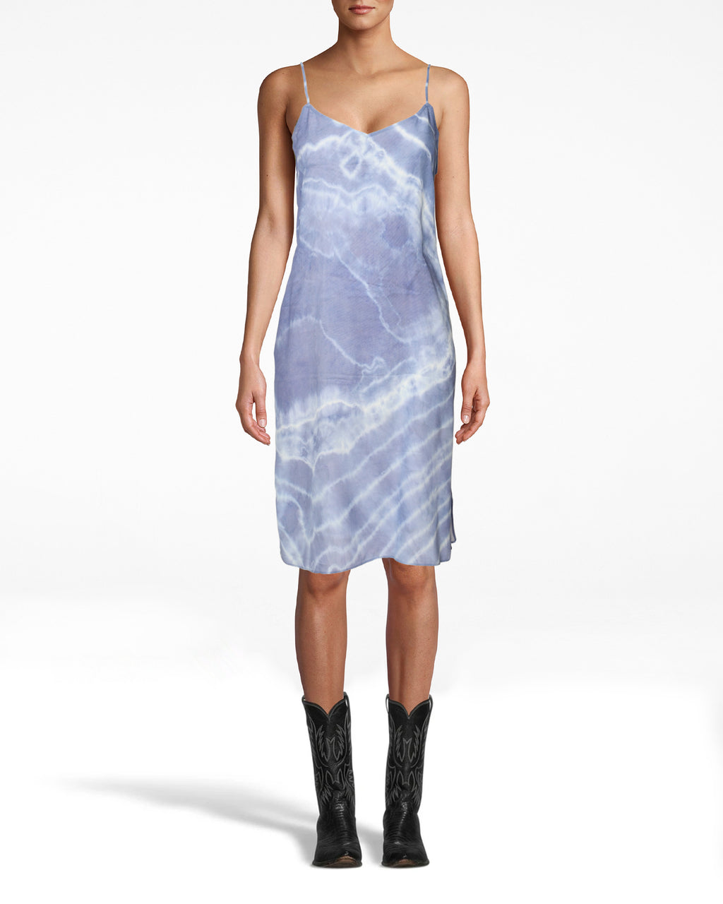 CD18749 - TIE DYE SLIP DRESS - dresses - midi - Slip into something easy. This effortlessly chic style can be styled endless ways to be on repeat all season long. Featuring adjustable straps and subtle side slits. Add 1 line break Stylist Tip: pair with everything from flip flops to knee high boots.