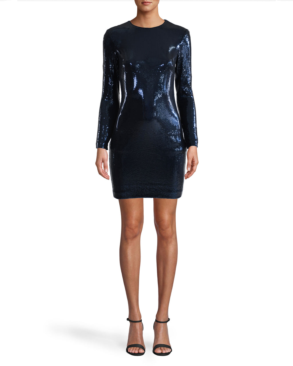 Sequin Long Sleeve Mini Dress Image 1
