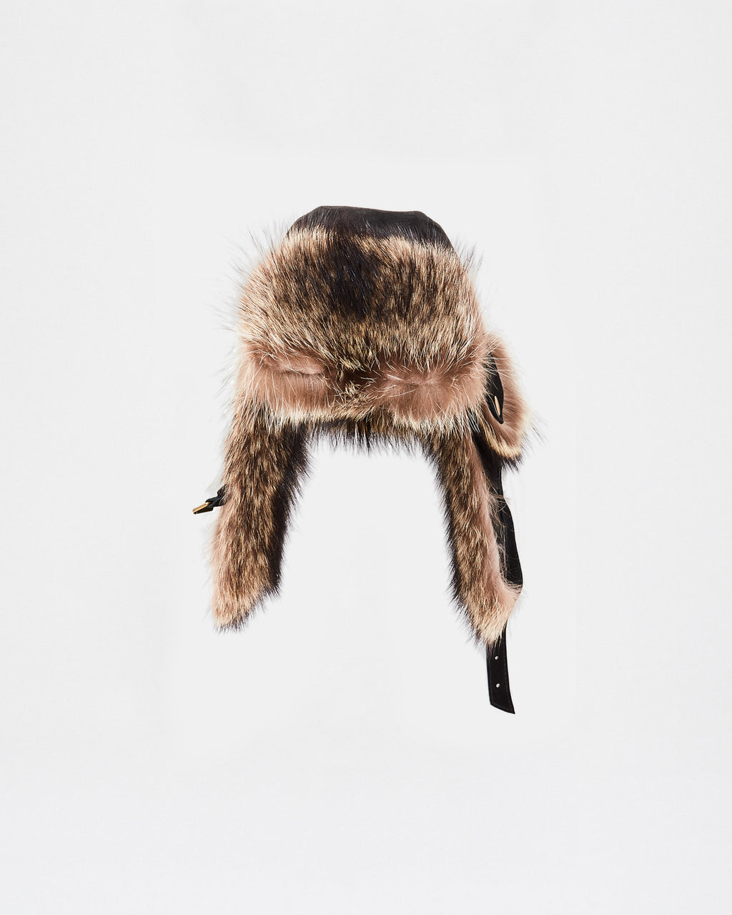 CF10116 - FOX TRIM AND LEATHER COMBO TRAPPER HAT - outerwear - jackets - This Trapper Hat is finished in fox fur and leather. A stylish and practical addition to top off your winter wardrobe.