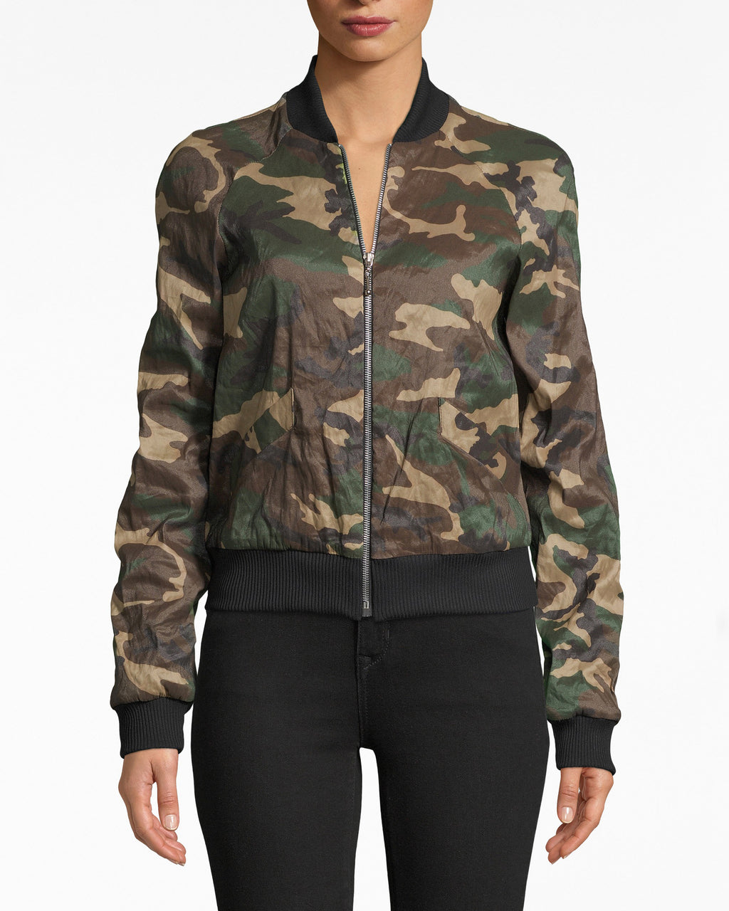 CF10290 - CAMOUFLAGE TECHNOMETAL BOMBER - outerwear - jackets - When Camo meets Street, we get this jacket. Our Techno Metal bomber is fitted with a little bit of room. The fabric is super breathable. Exposed front zipper for closure, fully lined.
