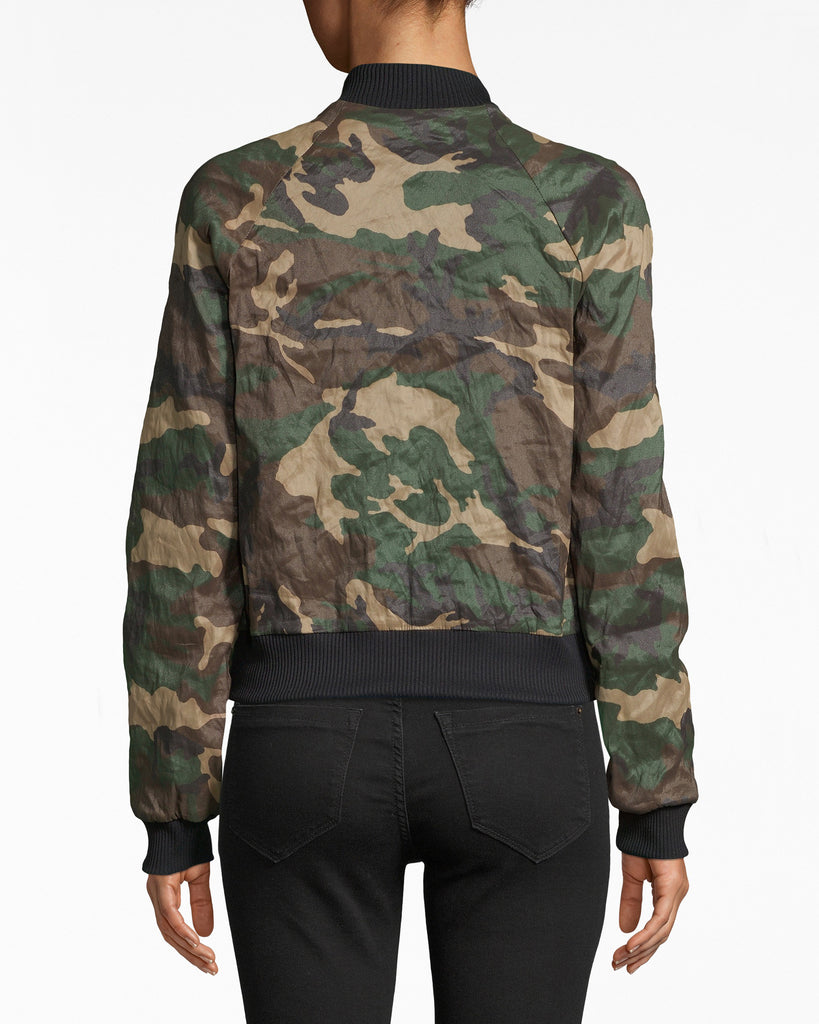 CF10290 - CAMOUFLAGE TECHNOMETAL BOMBER - outerwear - jackets - When Camo meets Street, we get this jacket. Our Techno Metal bomber is fitted with a little bit of room. The fabric is super breathable. Exposed front zipper for closure, fully lined. Alternate View