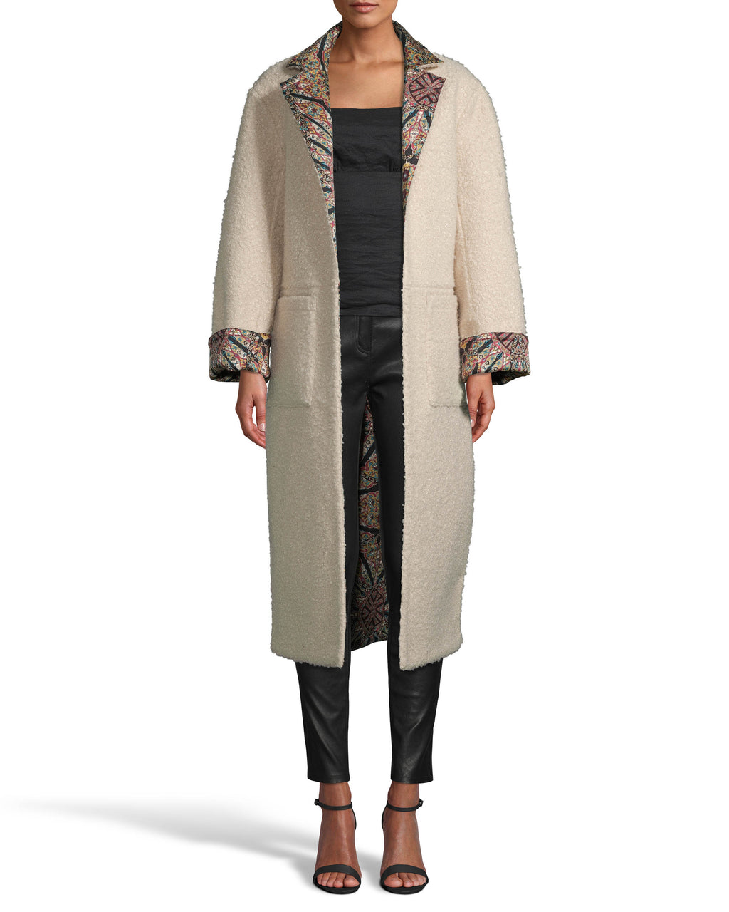 Labyrinth Printed Reversible Coat