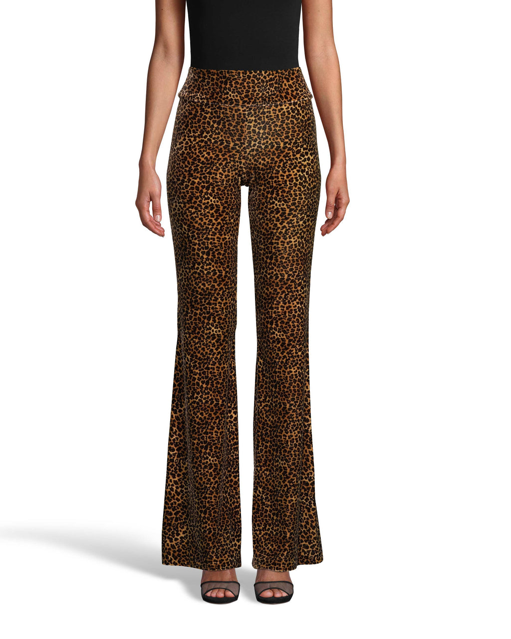 CP18121 - LEOPARD VELVET BELL BOTTOM PANT - bottoms - pants - From WFH to date night, these comfortable but flattering pull on pants will be on repeat all fall long. Crafted from soft leopard printed velvet with a bell bottom hem. Add 1 line break Stylist tip: Pair with a black cashmere sweater for day and a cami for evening.