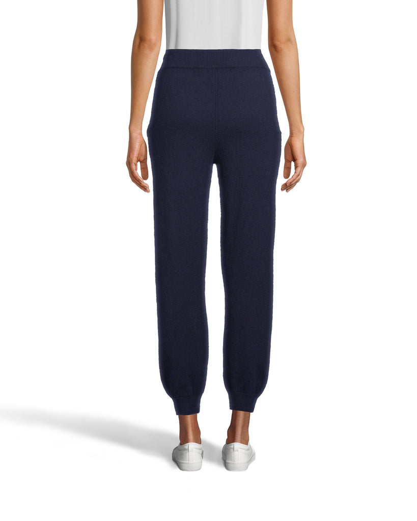 CP18507 - CASHMERE JOGGER PANTS - bottoms - pants - These joggers may look basic, but they're crafted from luxurious 100% cashmere. Designed in a classic jogger silhouette with a drawstring waist and cuffed ankles. Add 1 line break Stylist tip: Pair with a cashmere sweater for complete cozy ensemble. Alternate View