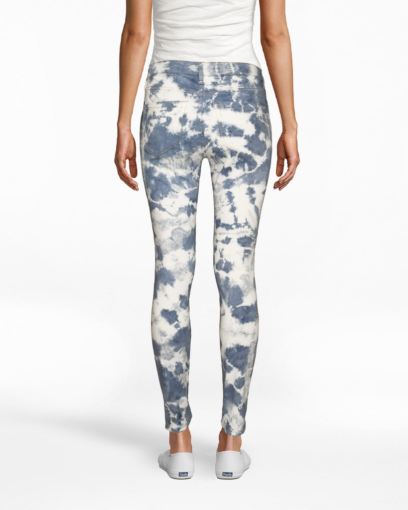 CP18726 - TIE DYE SKINNY JEANS - bottoms - denim - These statement jeans are designed in our best selling soho skinny silhouette and are hand dyed withbright blue dye. Add 1 line break Stylist Tip: Pair wi th the matching denim jacket for a laidback yet standout set. Alternate View