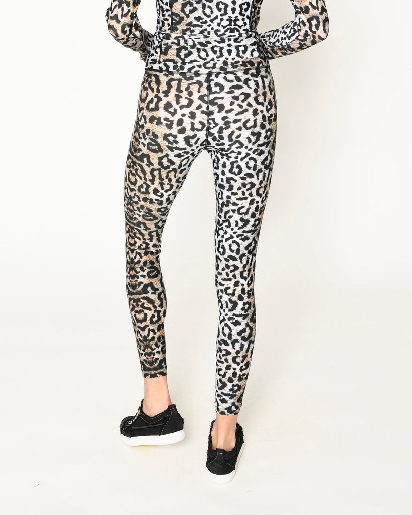 CP19180 - LEOPARD SPORTS LEGGINGS - bottoms - pants - Our leopard leggings are high waisted and crafted from a high performance nylon spandex blend. Designed in one of our signature prints, this piece is perfect for a workout or the girl on the go. Add 1 line break Stylist tip: Pair with the matching workout top to be the most stylish in any gym. Alternate View