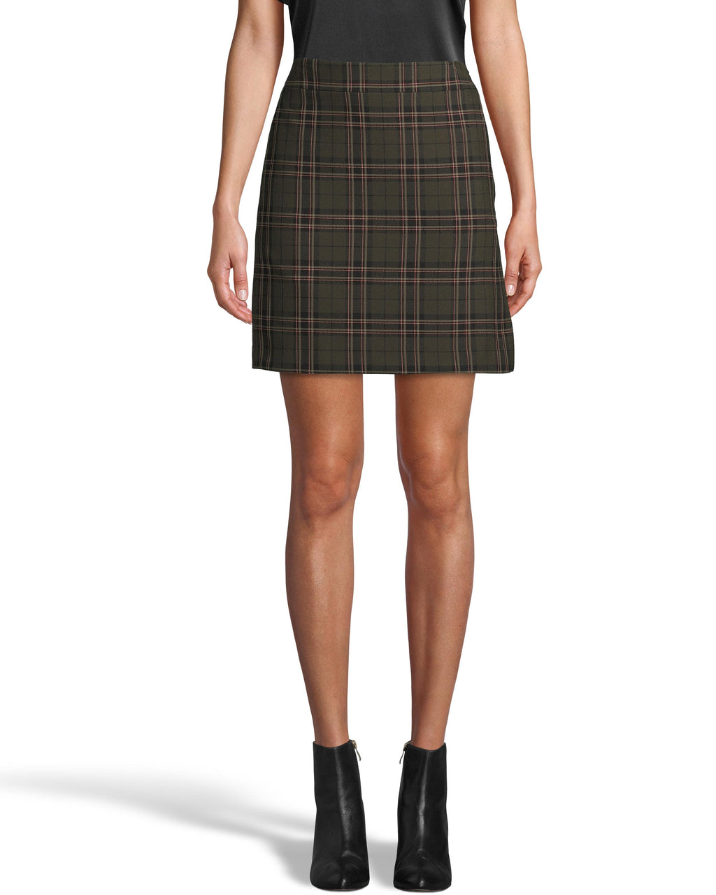 CS18234 - JAGGER PLAID MINI SKIRT - bottoms - skirts - Plaid is a fall neutral. Designed in our new jaggar plaid, this classic silhouette hits a few inches above the knee and features a concealed side zipper. Add 1 line break Stylist tip: Pair with anything from white t-shirts to one of our cashmere sweaters.