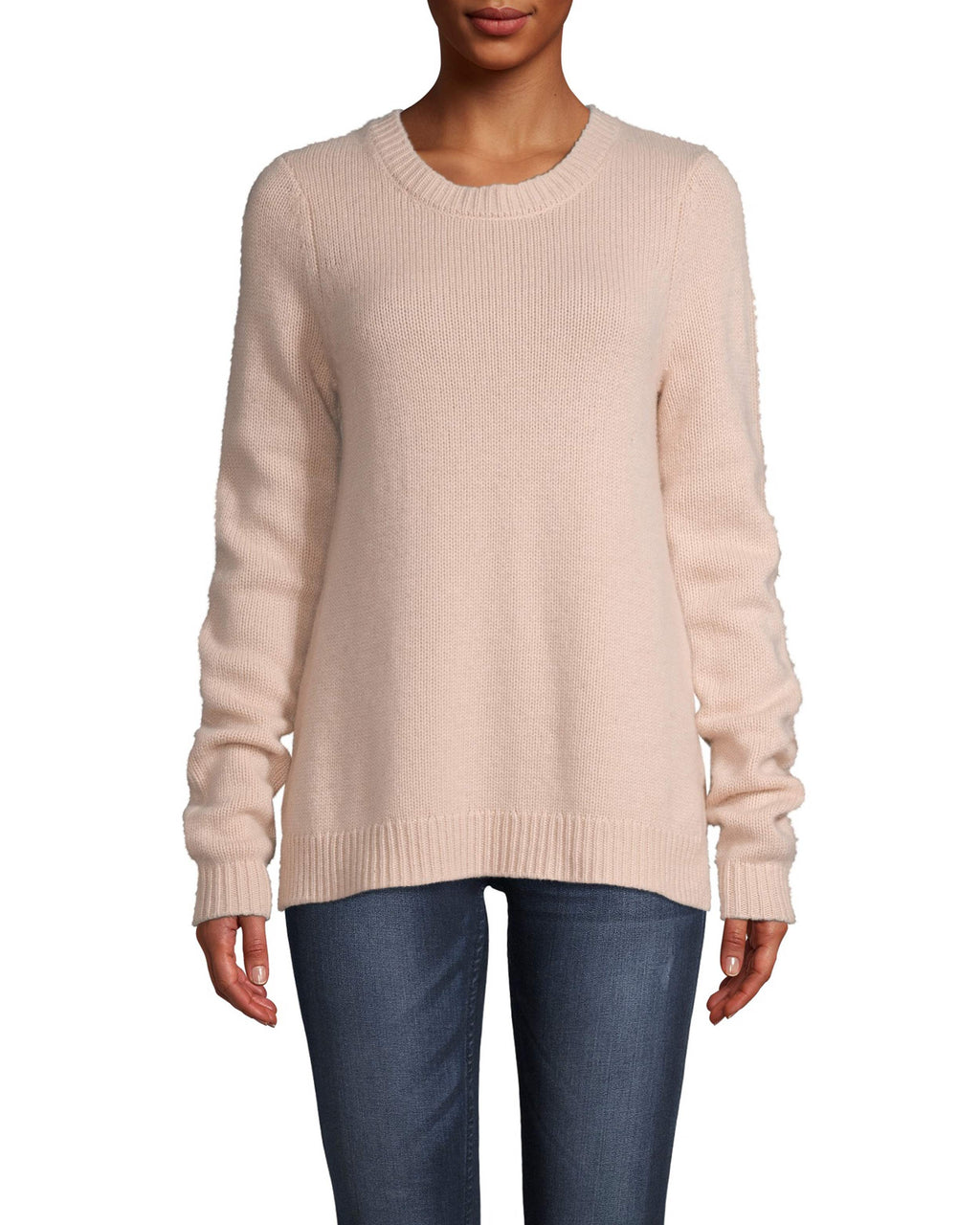 CT18053 - CASHMERE CREW NECK SWEATER - tops - knitwear - This cozy 100% cashmere style will be on repeat all fall long. Designed in two fashion colors to effortlessly pair with our fall line and everything already in your closet. This classic crew neck piece features ribbed detail at the neck and hemline. Add 1 line break Stylist tip: Pair with a mini skirt and your favorite fall boots.