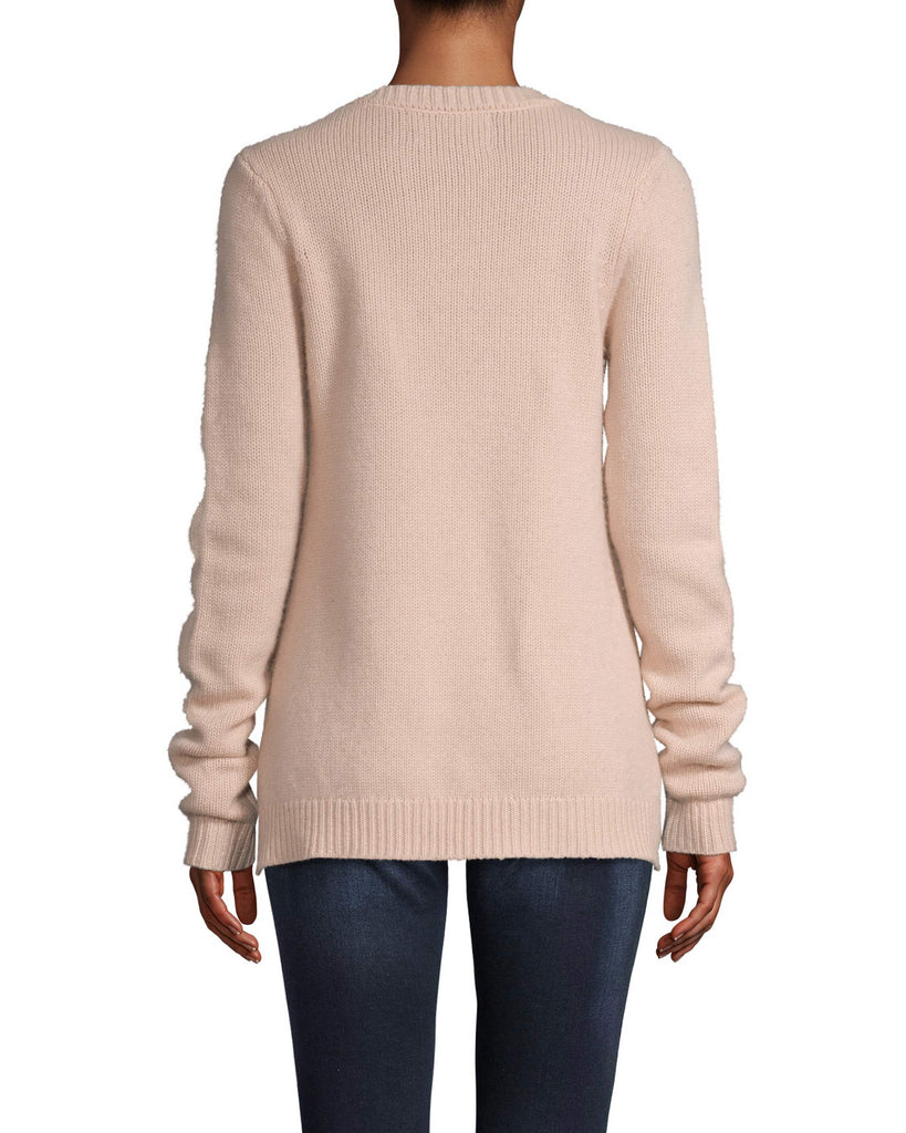 CT18053 - CASHMERE CREW NECK SWEATER - tops - knitwear - This cozy 100% cashmere style will be on repeat all fall long. Designed in two fashion colors to effortlessly pair with our fall line and everything already in your closet. This classic crew neck piece features ribbed detail at the neck and hemline. Add 1 line break Stylist tip: Pair with a mini skirt and your favorite fall boots. Alternate View