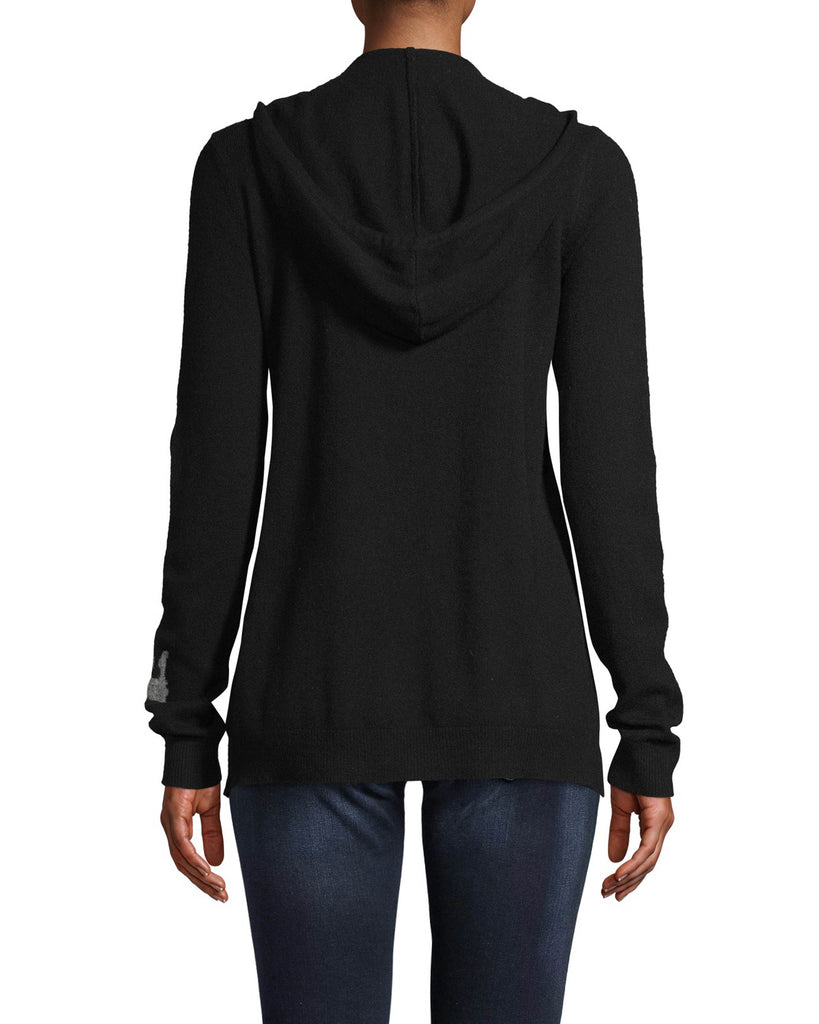 CT18214 - CASHMERE CROWN HOODIE - tops - knitwear - Wear your crown on your sleeve with this cozy style. Crafted from 100% cashmere, this zip up hoodie will be on repeat all fall long. Add 1 line break Stylist tip: Pair with your most loved jeans for a comfortable yet stylish outfit. Alternate View