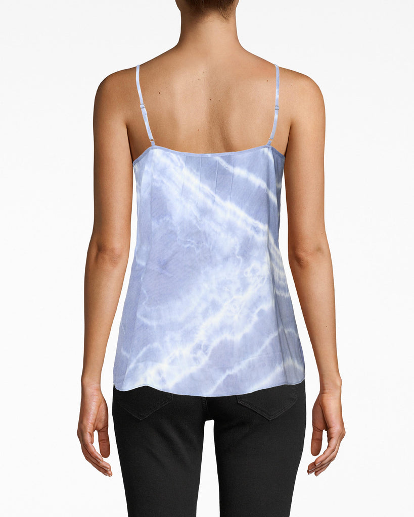 CT18858 - TIE DYE CAMI - tops - blouses - Designed in one of our best selling silhouettes, this vibrant airy cami was made for beach days and date nights. Featuring a subtle lace trim and buttons with adjustable straps. Add 1 line break Stylist Tip: Style with white denim jeans. Alternate View