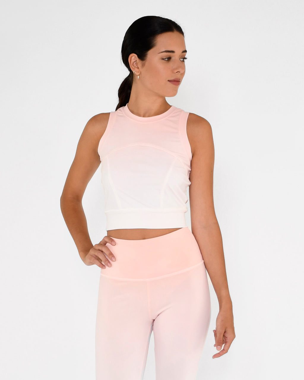 CT19043 - OMBRE SPORTS CROP TOP - accessories - activewear - Our ombre crop top features seam detailing and is crafted from high performance fabric. This lightweight piece will keep you cool when you workout - both in temperature and style. Add 1 line break Stylist tip: Pair with our matching leggings or joggers for a complete set.