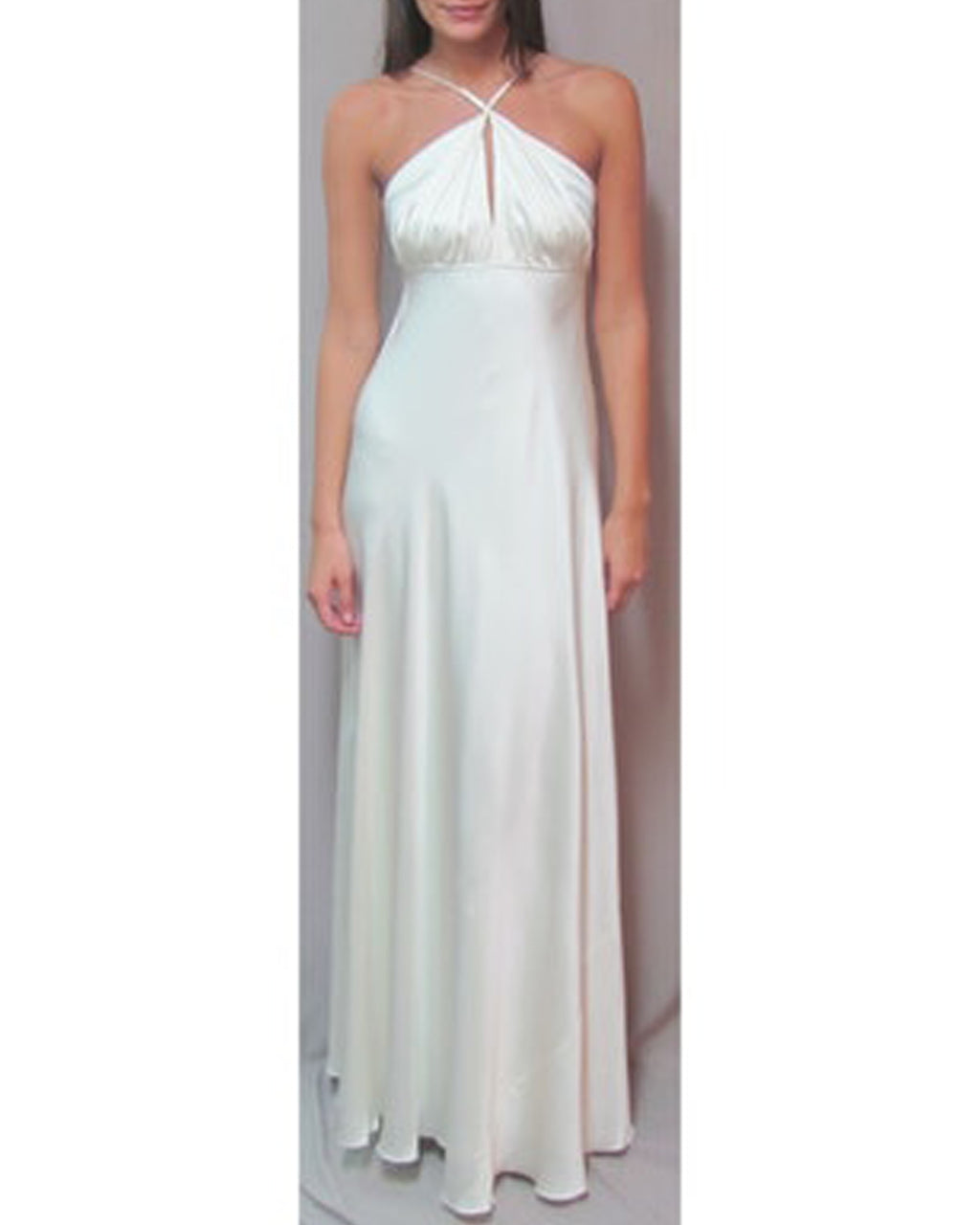 EC0009 - halter gown with key hole - samples - bridal - Final Sale Add 1 line break BRIDAL GOWN