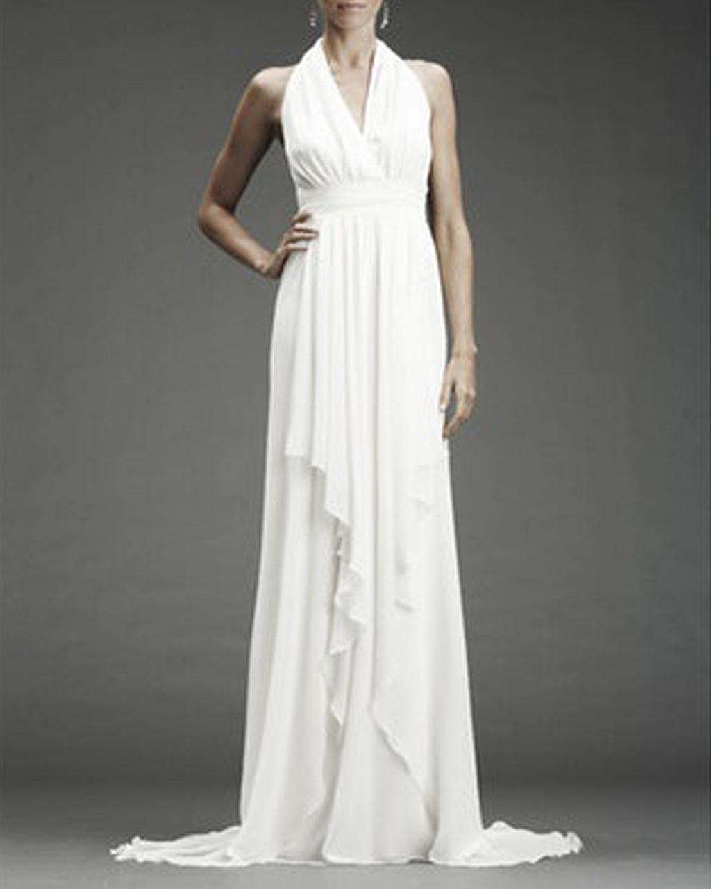 FA0028 - JENNIFER CHIFFON BACK - samples - bridal - Final Sale Add 1 line break BRIDAL GOWN