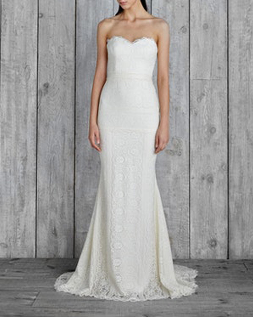 "ID10002 - ""MARINA"" LACE HALTER GOWN - samples - bridal - Final Sale Add 1 line break BRIDAL GOWN"