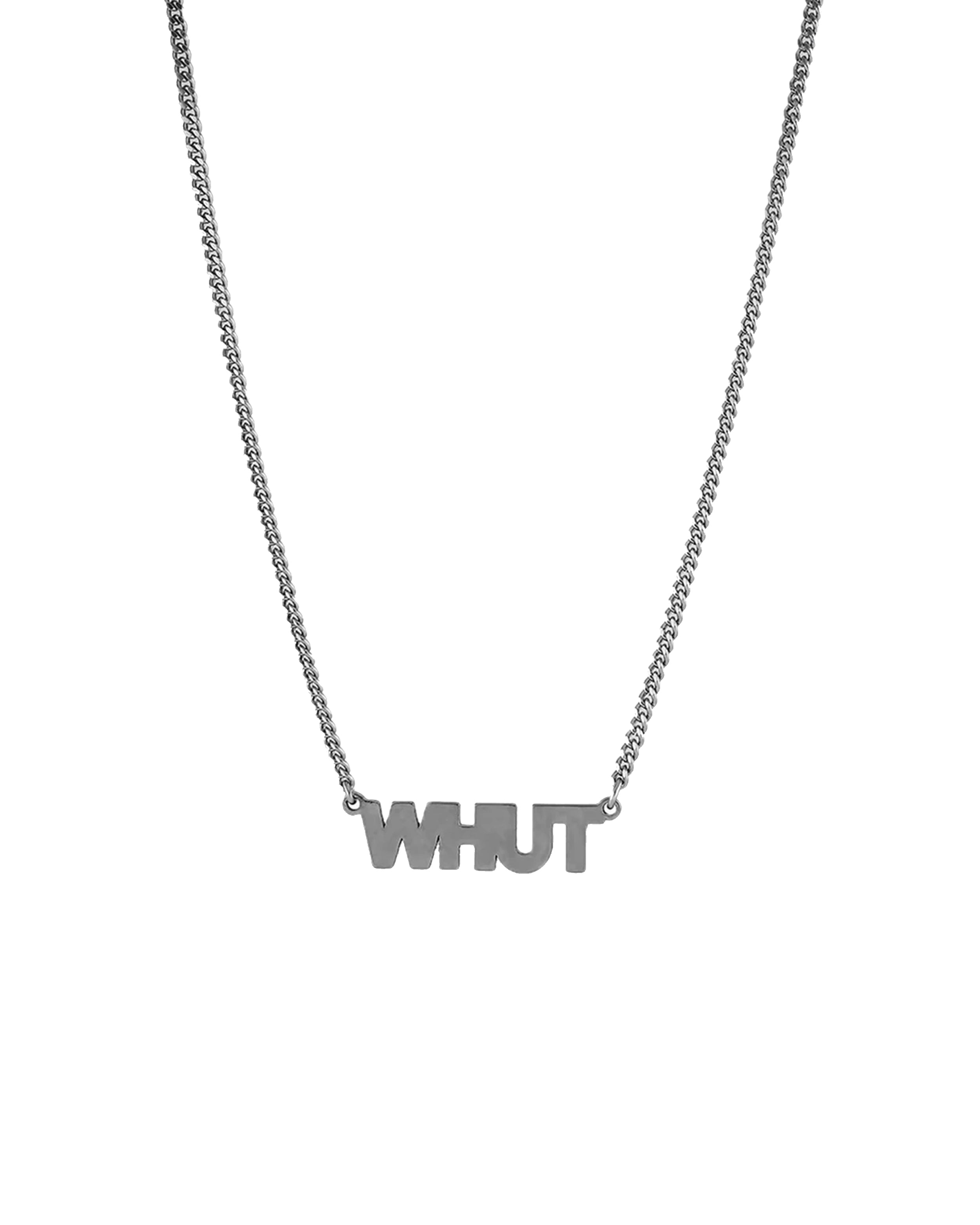 nicole miller whut cutout necklace in silver | sterling