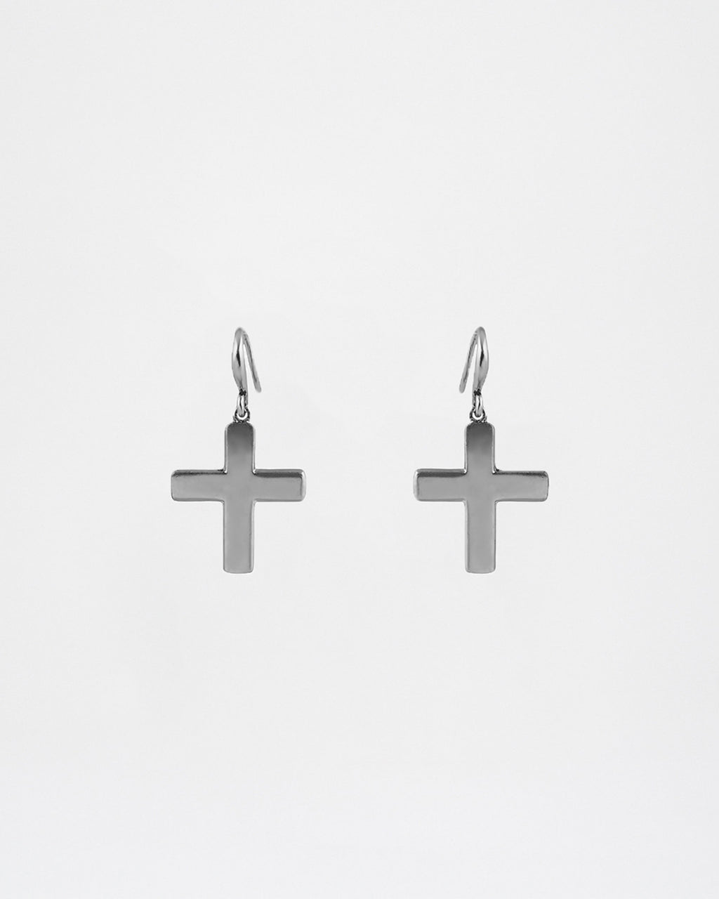 NM01431 - LARGE SOFT CROSS EARRINGS - accessories - jewelry - GOTHIC STYLE CROSSES ARE BEAUTIFULLY CRAFTED. These fashion jewelry earrings are secured with fishhook backs.