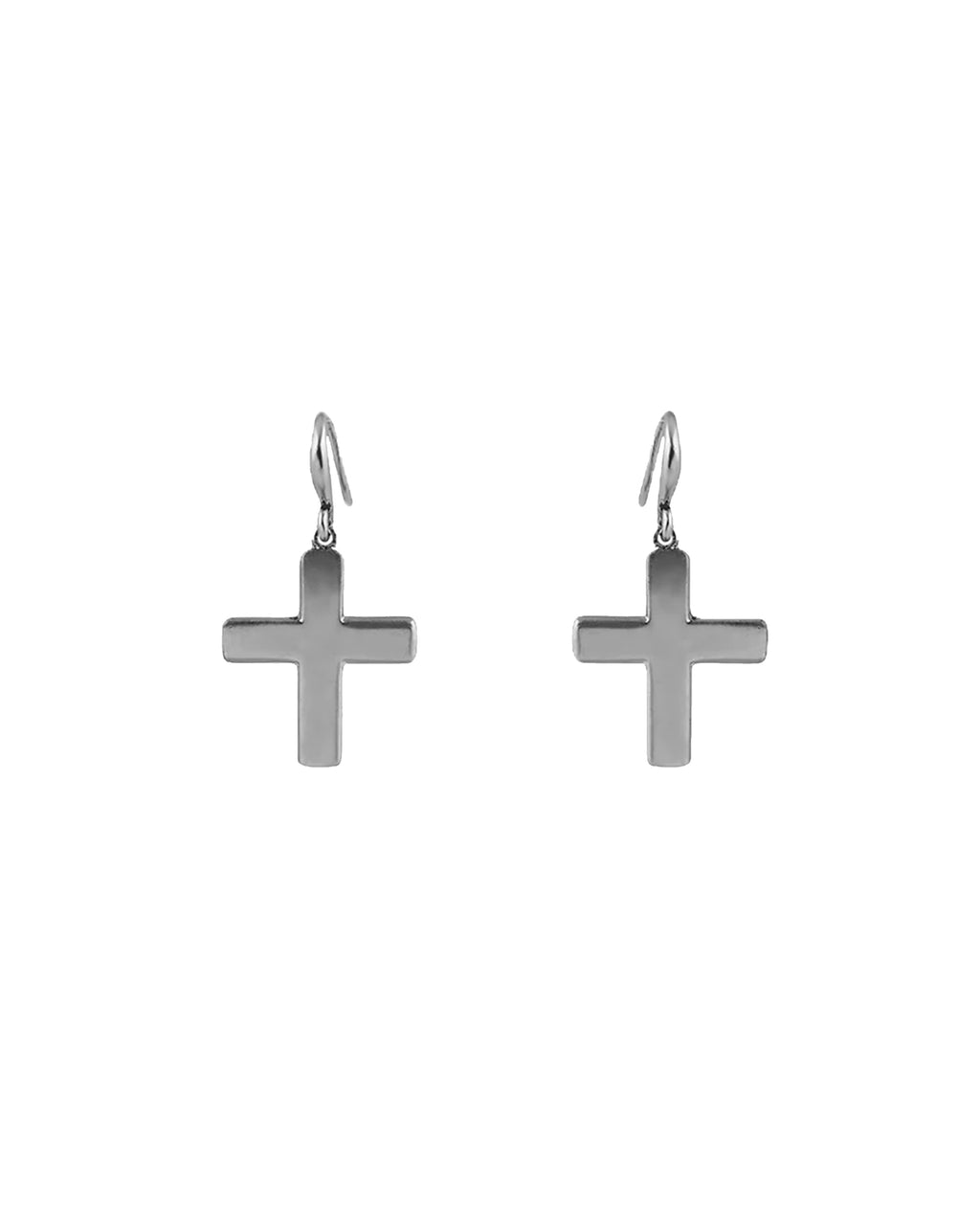 NM01433 - SMALL SOFT CROSS EARRINGS - accessories - jewelry - Gothic-style crosses are beautifully CRAFTED. These fashion jewelry earrings are secured with fishhook backs.