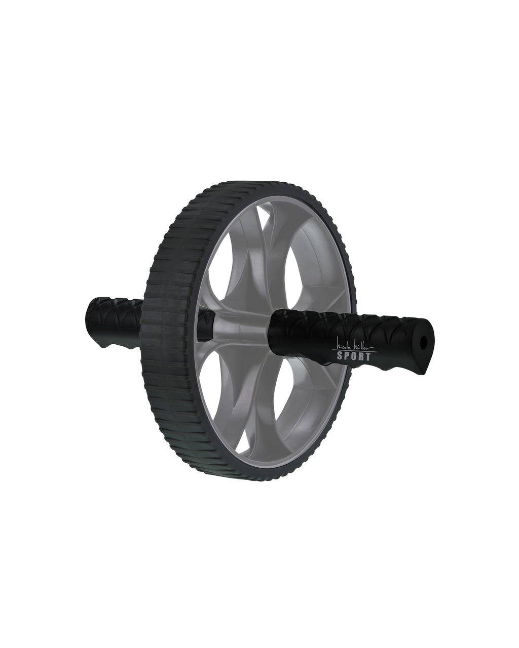 NMABR01 - AB WHEEL - accessories - activewear - Improve your core strength with Nicole Miller Ab Wheel. The non-skid wheel allows for easy rolling on a variety of surfaces without wobbling or slipping for smooth controlled movements.