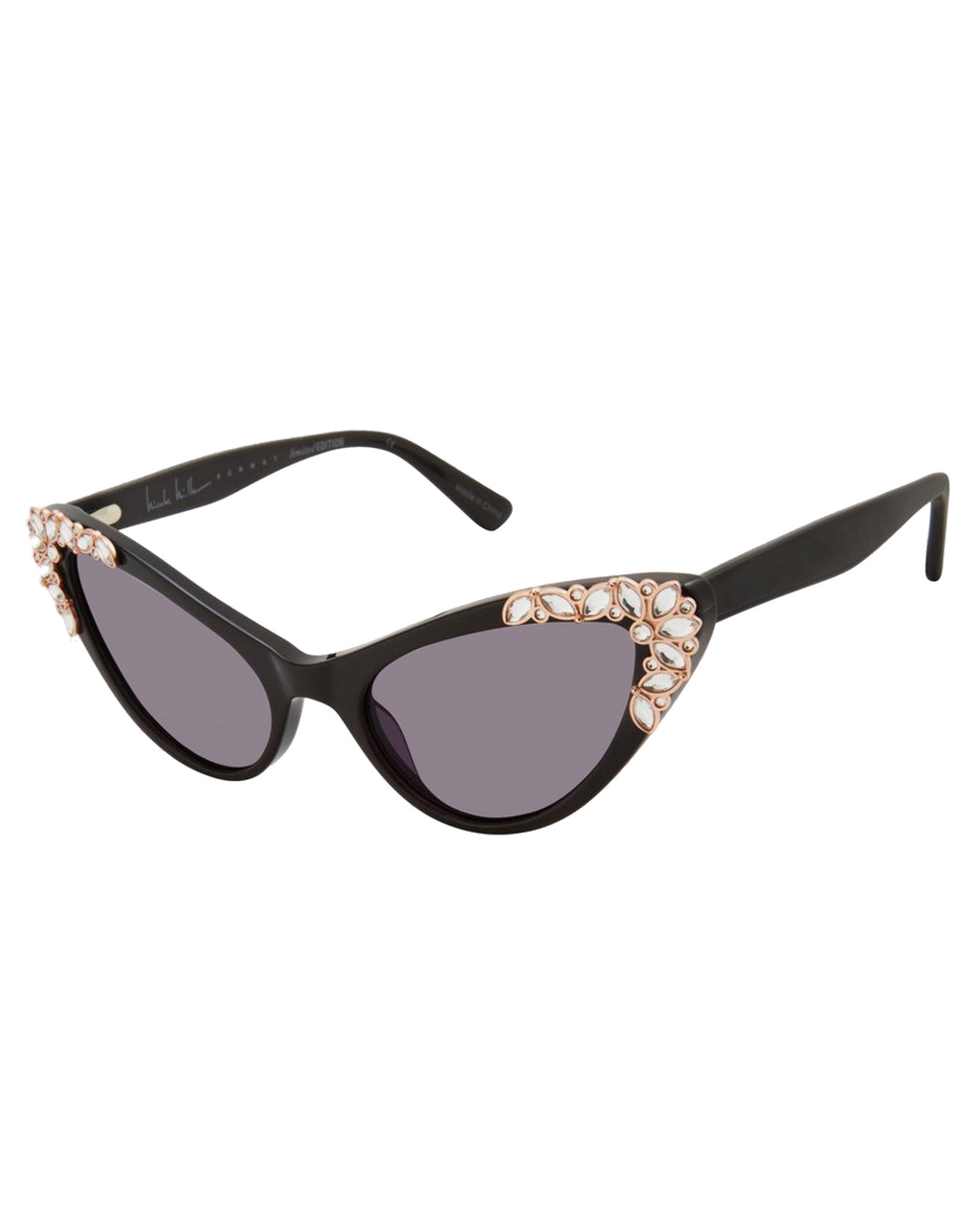 NMPROVE - PROVENCE RUNWAY SUNGLASSES - accessories - sunglasses - THESE BLACK CATEYE SUNGLASSES FEATURE CRYSTALS ALONG THE RIM. STRAIGHT FROM THE RUNWAY. 100% UVA/UVB