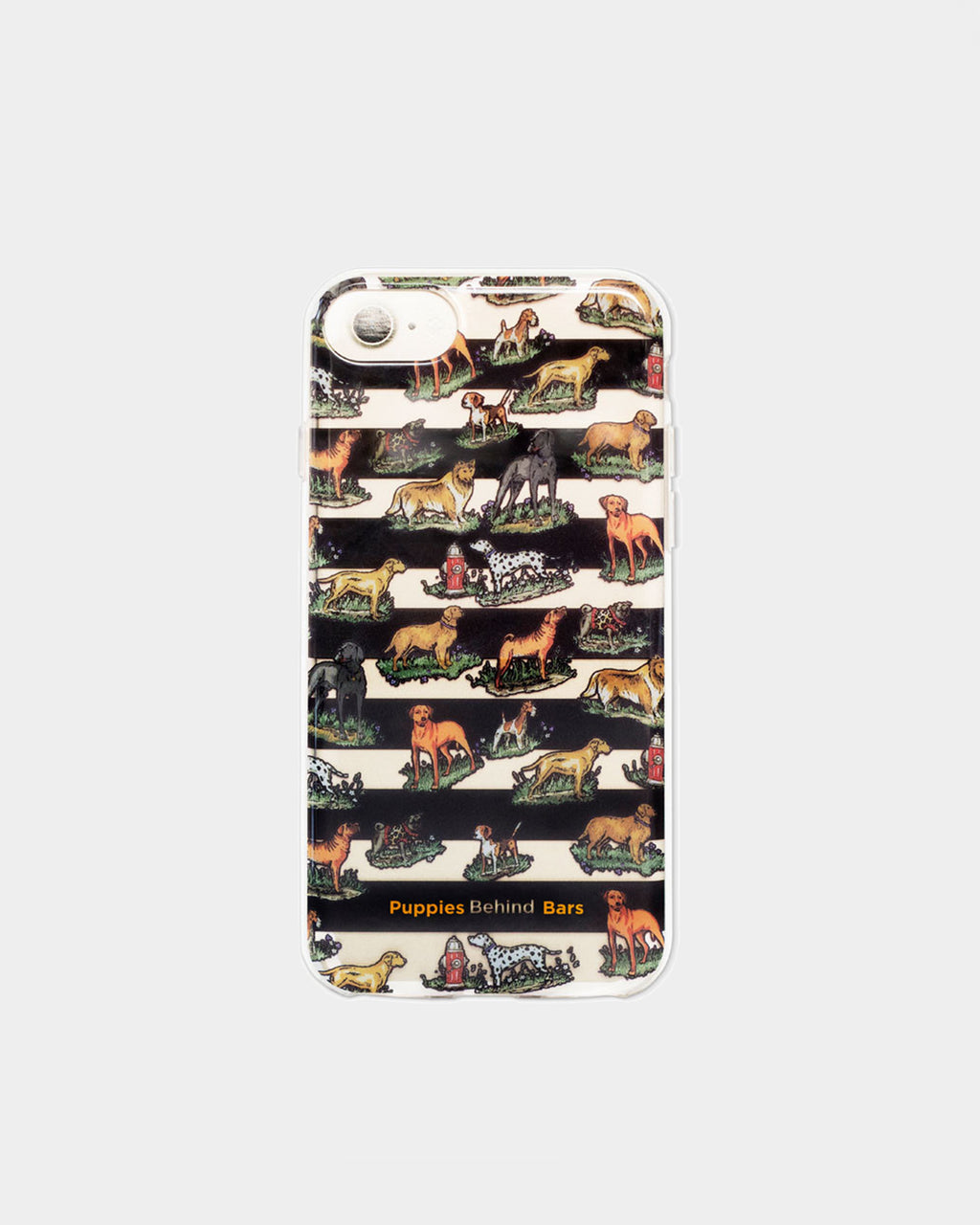 PBPIPHO - PUPPIES BEHIND BARS iPHONE 7 CASE - accessories - stationary - In a one of a kind print created for Puppies Behind Bars, this case is suited for the iPhone 7. All proceeds will be donated to Puppies Behind Bars, a non-profit that trains inmates to raise service dogs for wounded war veterans and explosive detection canines for law enforcement.