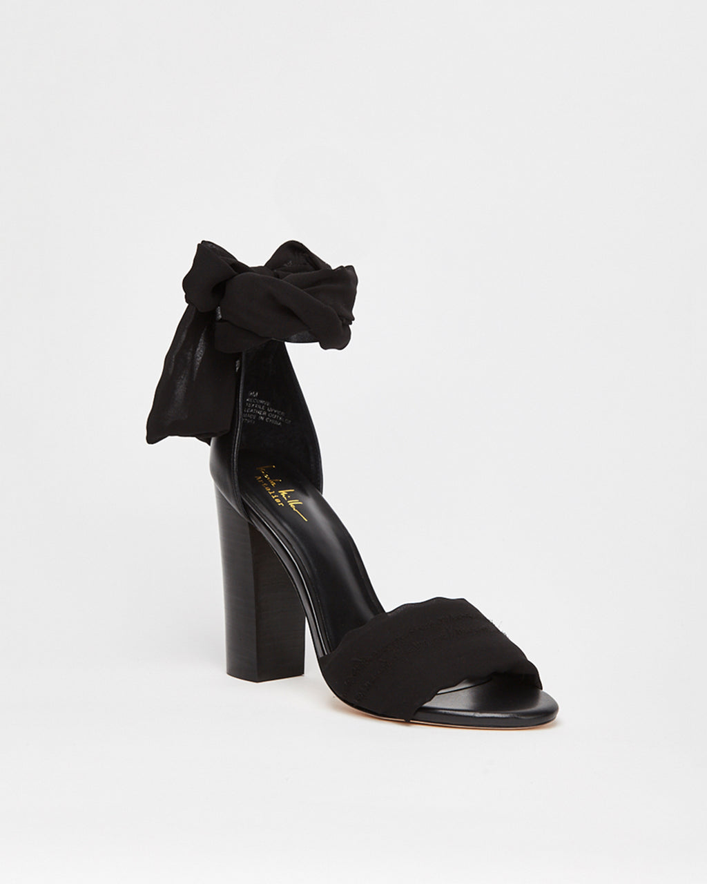 RECURVE - RECURVE SANDAL - shoes - shoes - In a lightweight fabric, this summer sandal completes any day to night look. The silky ankle tie adds a chic touch to these chunky heels.�
