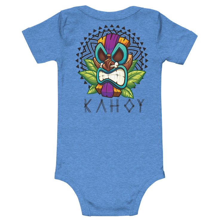 Kahoy Tiki Mask one piece baby T-Shirt