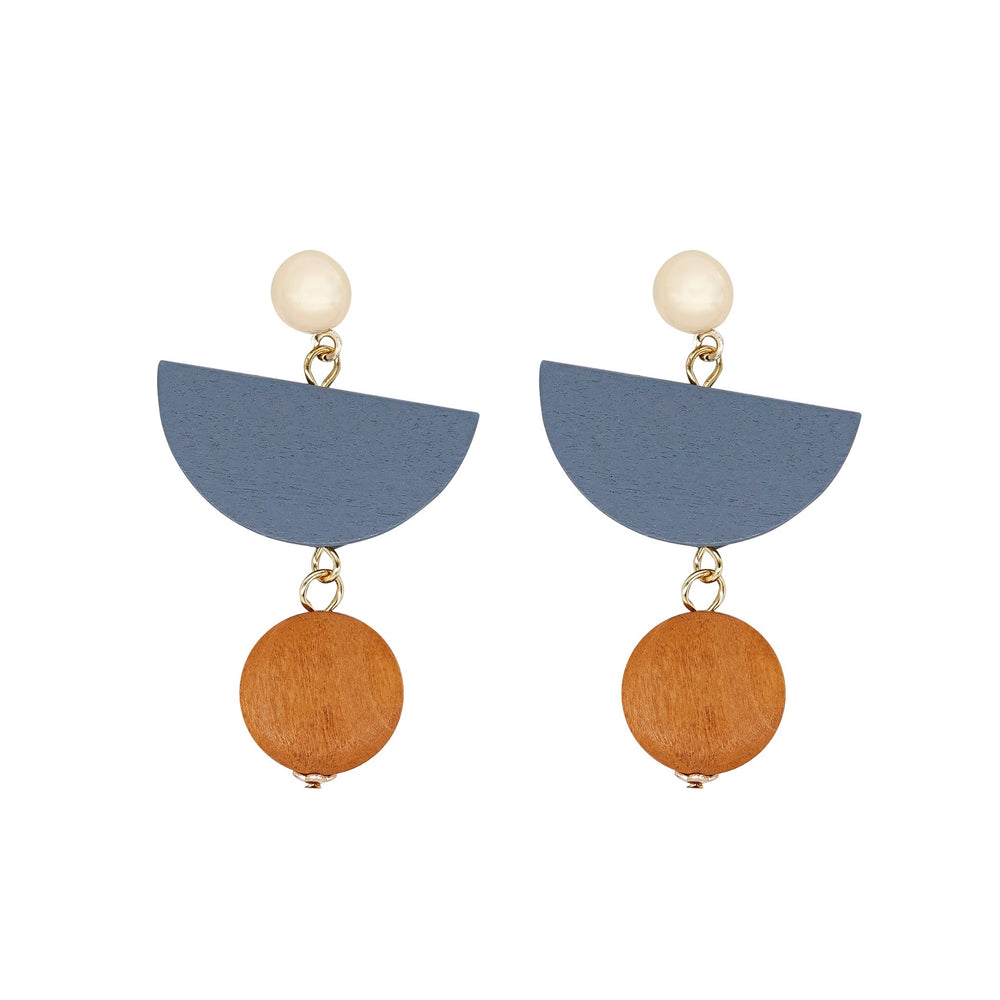 Saylor Wooden Drop Earrings - atto.studio