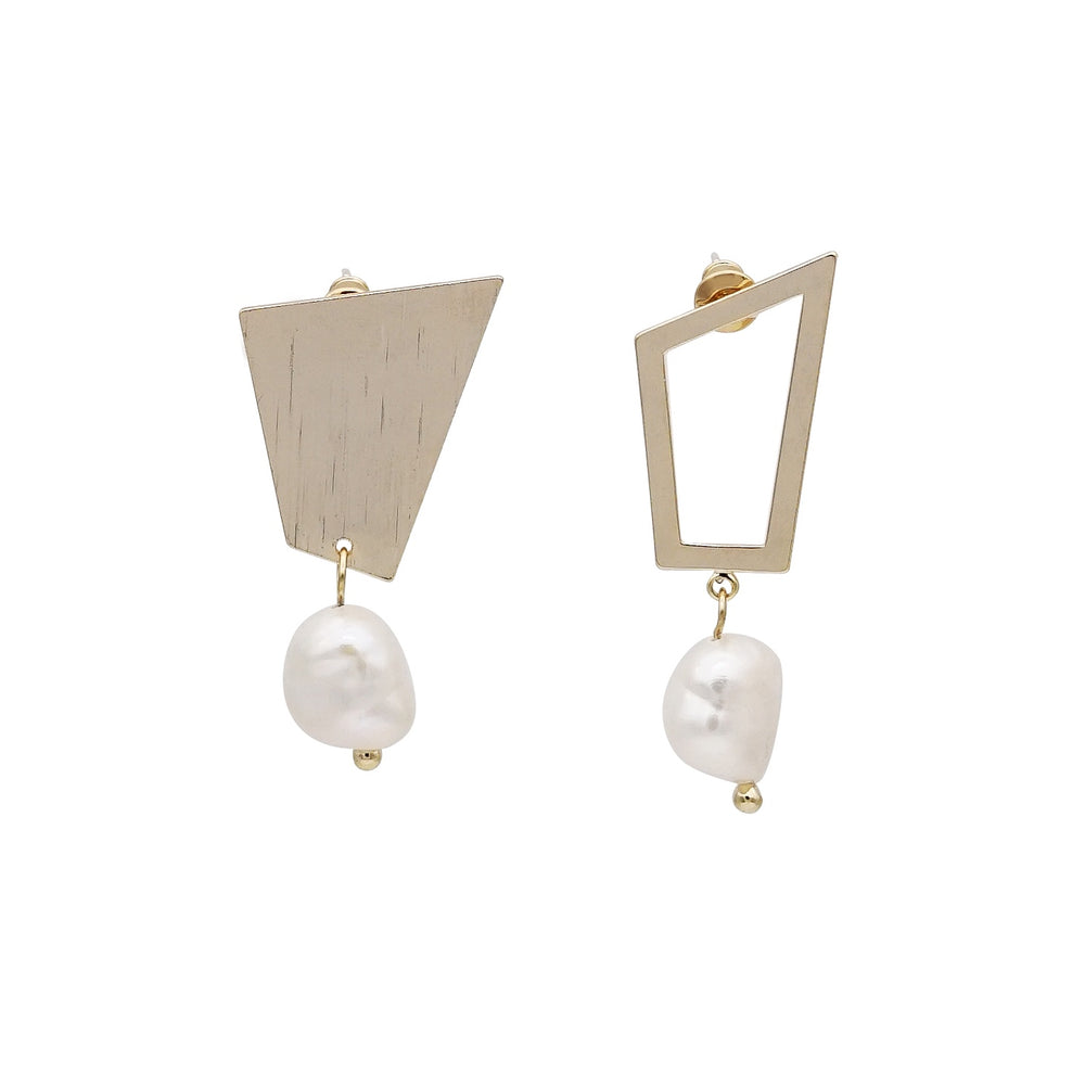 Adore Mismatch Freshwater Pearl Earrings (2 colours) - atto.studio
