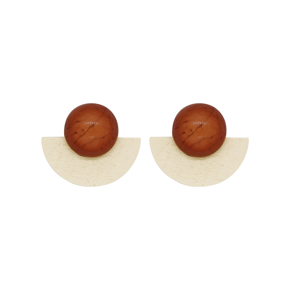 Aiken Wooden Stud Earrings (2 colours)
