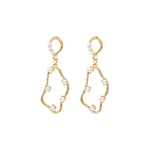 Aimee Gold-plated Pearl Earrings GOLD - atto.studio