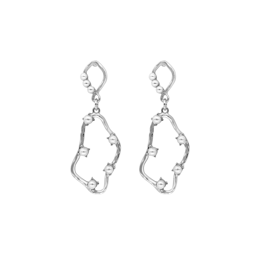 Aimee Gold-plated Pearl Earrings SILVER