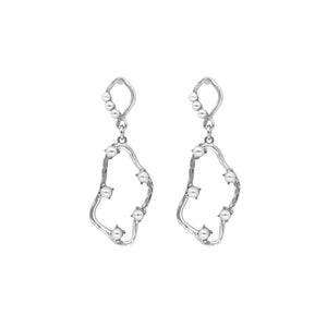 Aimee Gold-plated Pearl Earrings SILVER - atto.studio