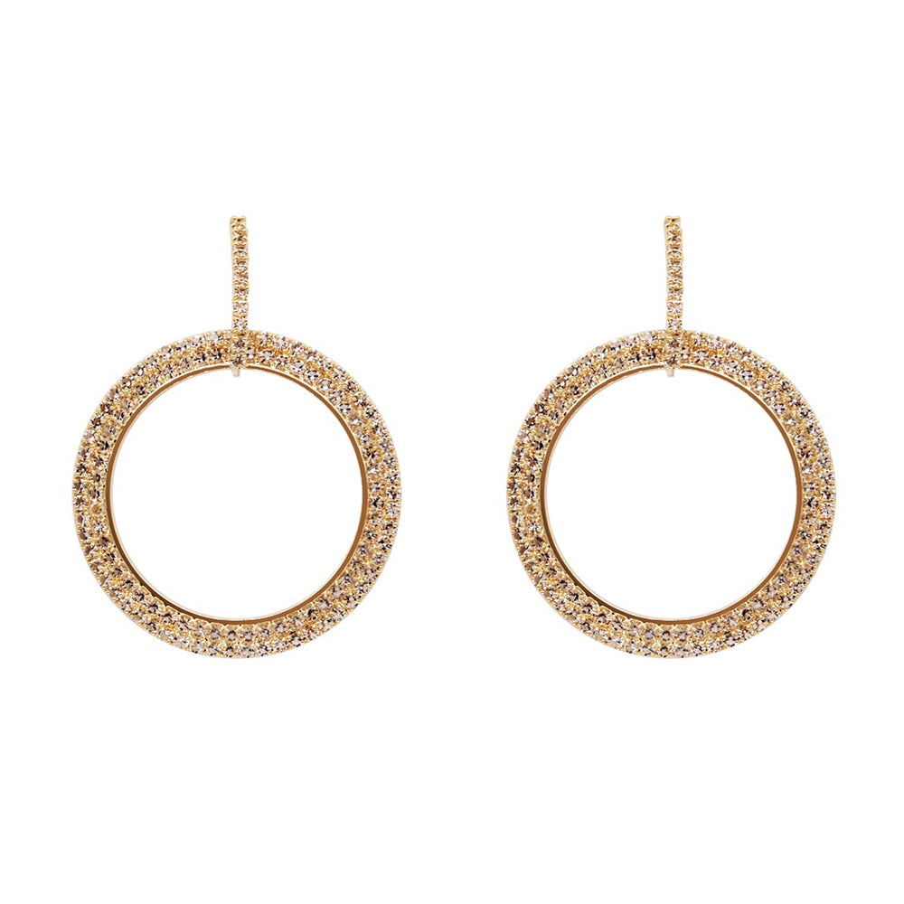 Alycia Drop Hoop Earrings