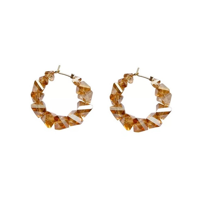 Ambra Hoop Earrings Orange