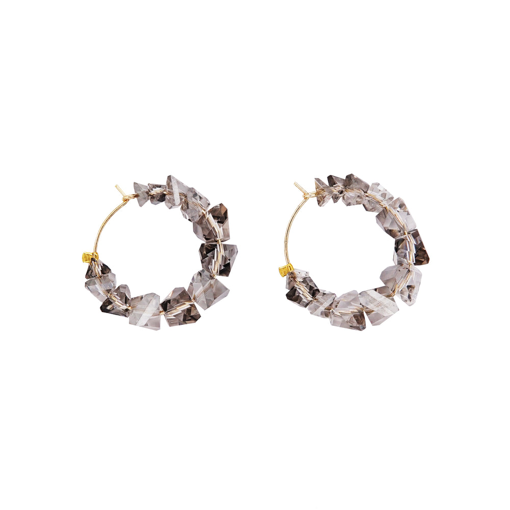 Ambra Hoop Earrings Grey