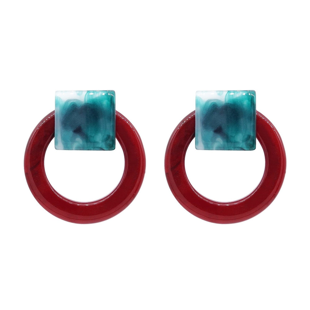Kari Stud Earrings Red