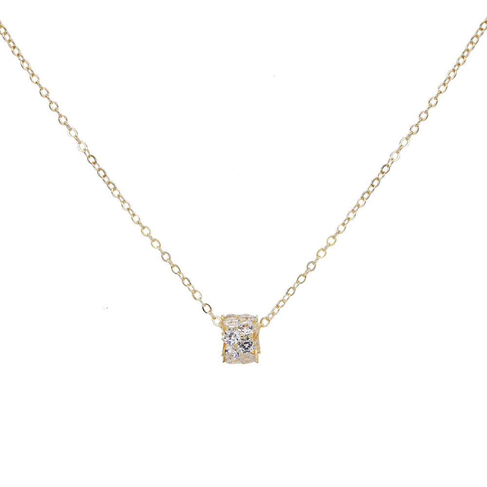 Calista Rhinestone Gold Necklace