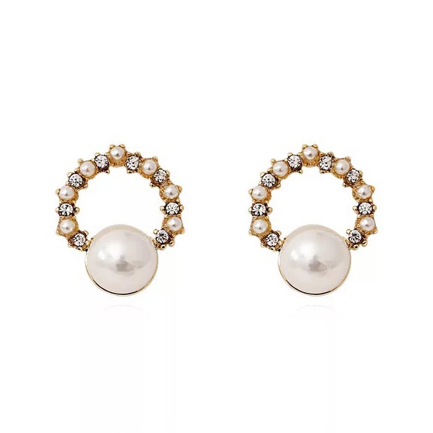 Ceren Pearl Stud Earrings