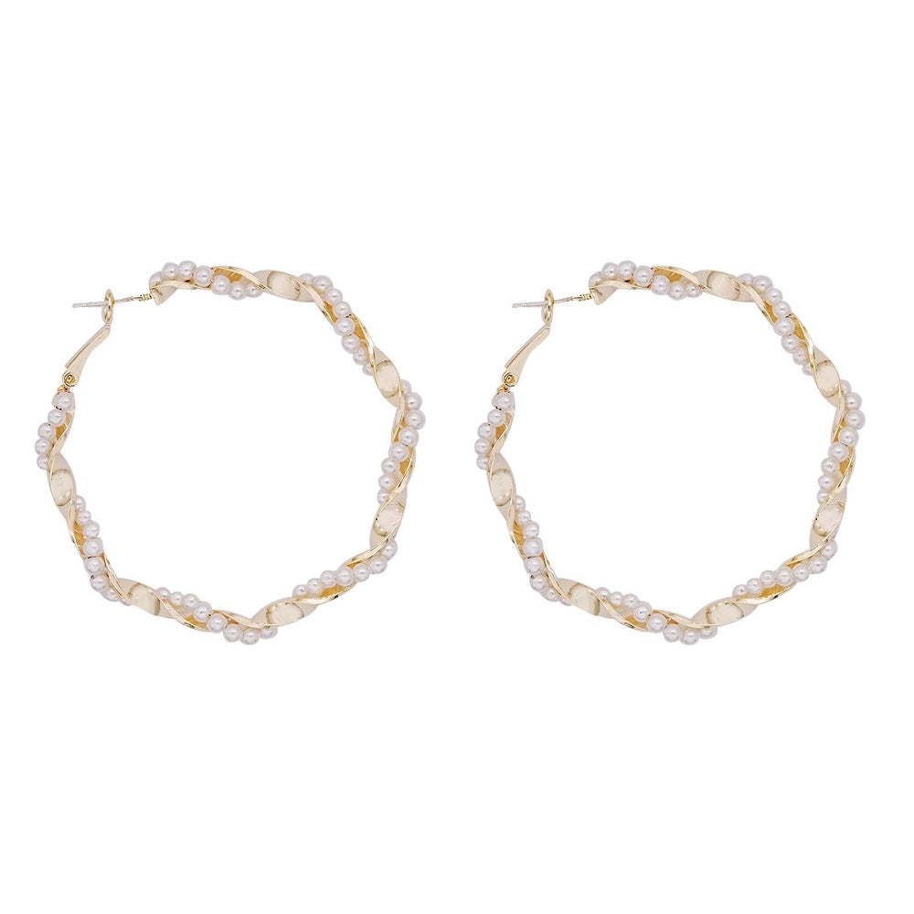 Cole Pearl Hoop Earrings