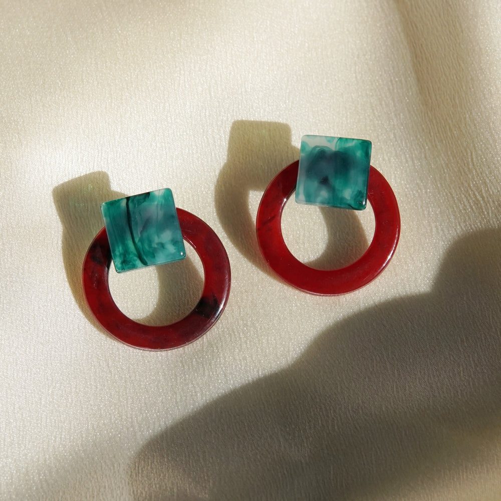 Kari Stud Earrings Red - atto.studio