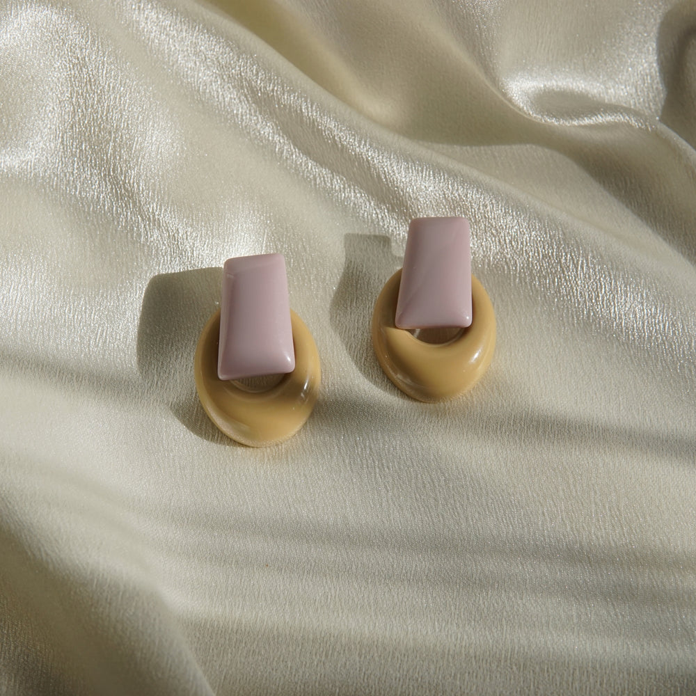 Mali Statement Earrings Purple - atto.studio