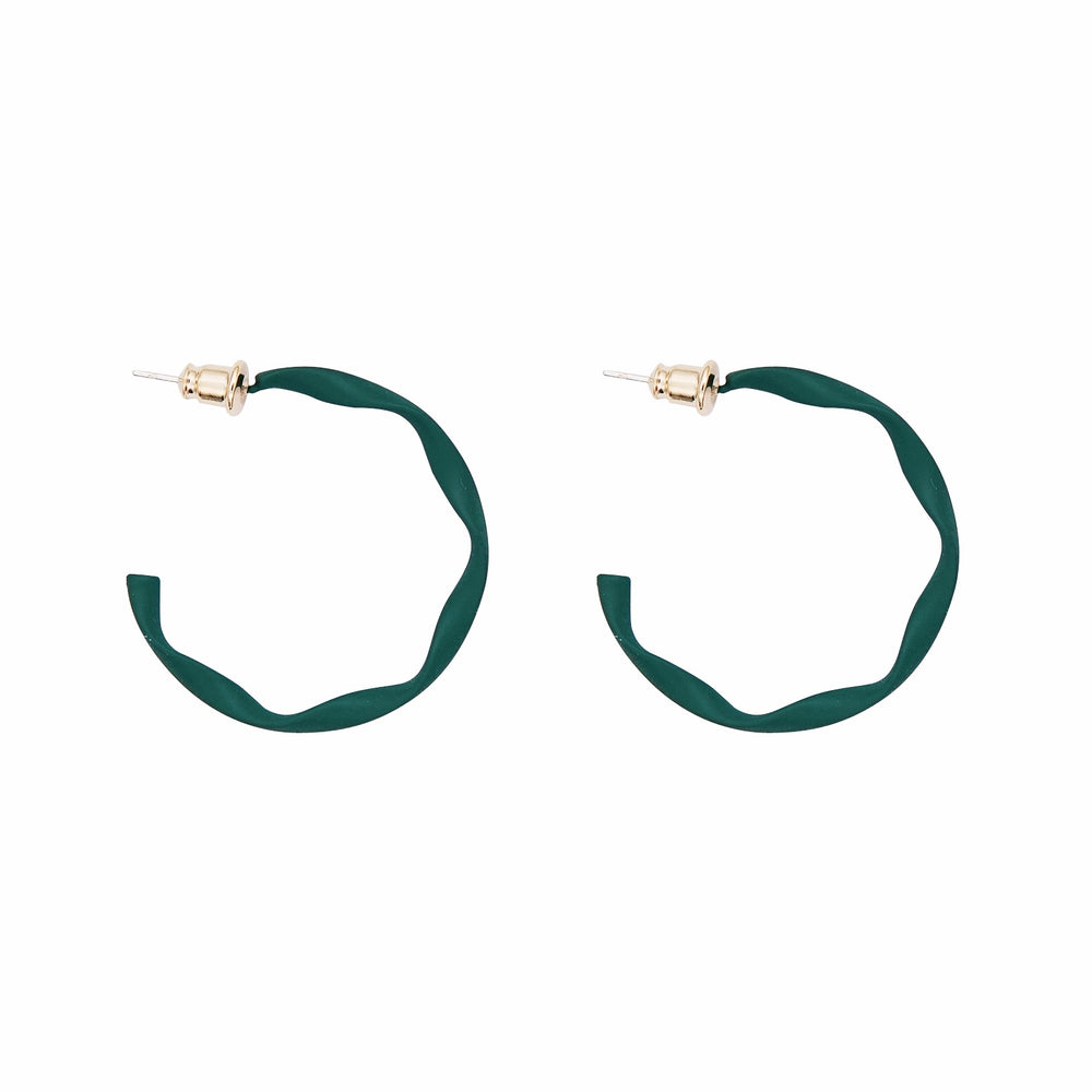 Pina Twisted Hoop Green