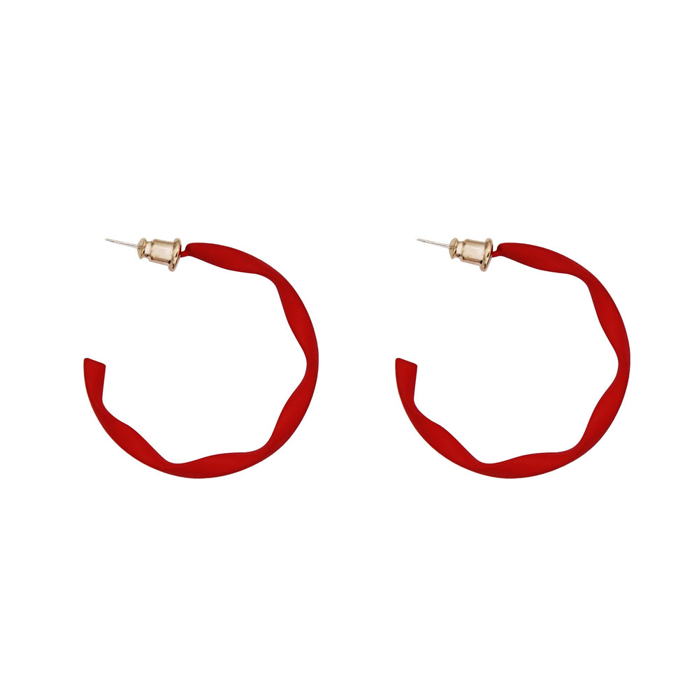 Pina Twisted Hoop Red